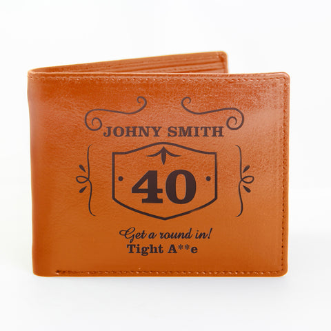 Personalised Brown Classic Whisky Wallet