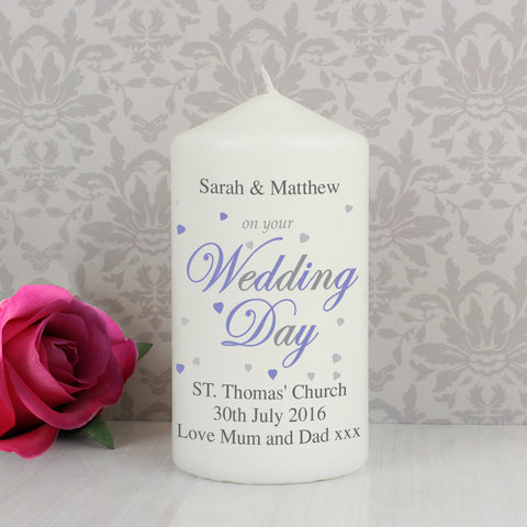 Personalised Wedding Day Candle Gift