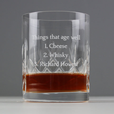 Personalised Crystal Whisky Tumbler Gift