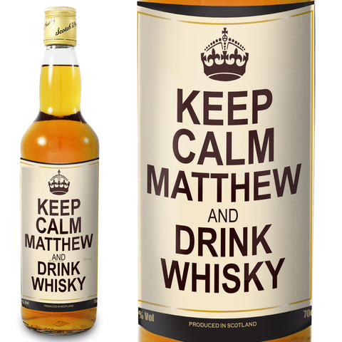 Personalised Keep Calm Whisky Gift