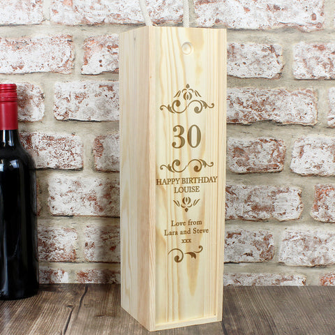 Personalised Wine Box with Number