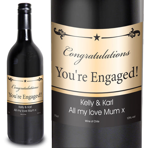Personalised Black Border Red Wine Gift