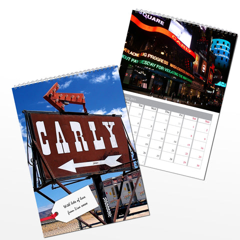 Personalised All American Calendar Present