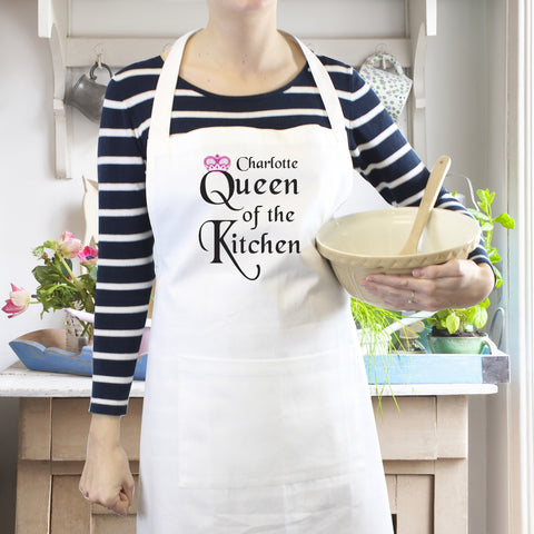 Personalised Queen of The Kitchen Apron Present