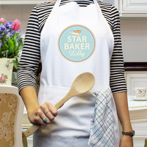 Personalised Star Baker Apron Gift