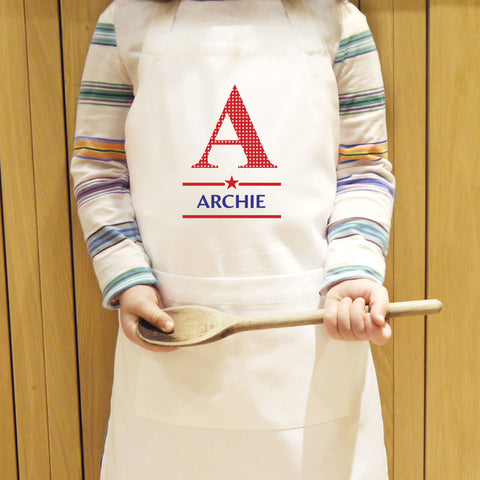 Personalised Boys Apron