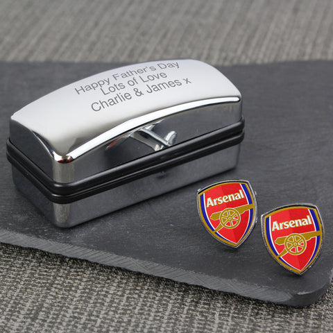 Personalised Arsenal Cufflinks Gift