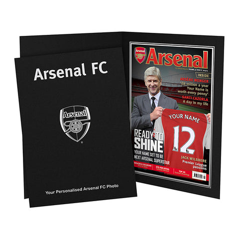 Personalised Arsenal Magazine Cover Folder Present