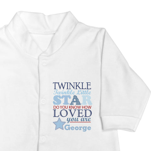 Personalised Twinkle Boys Baby Grow