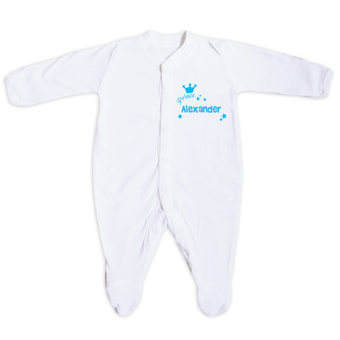 Personalised Prince Baby Grow