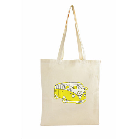 Personalised Bag Yellow Campervan Design