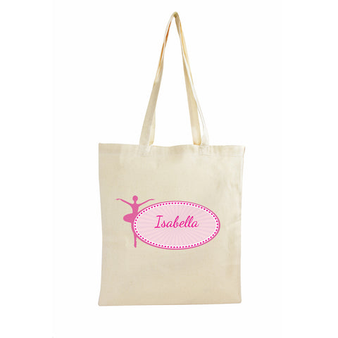 Personalised Ballerina Cotton Bag Gift