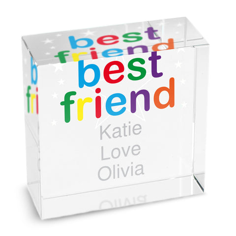 Personalised Best Friend Medium Crystal Token Gift