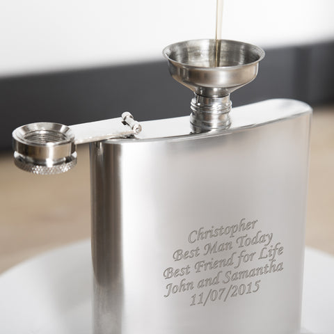 Personalised Boxed Stainless Steel Hip Flask Present