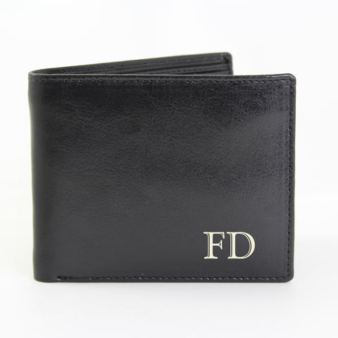 Personalised Black Initials Wallet Gift