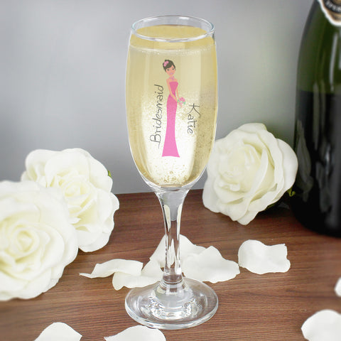 Personalised Fabulous Bridesmaid Champagne Flute