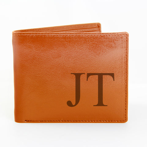 Personalised Brown Big Initials Wallet Gift