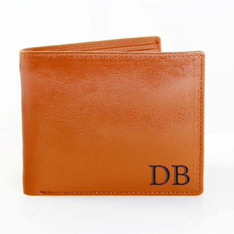 Personalised Brown Initials Wallet Gift