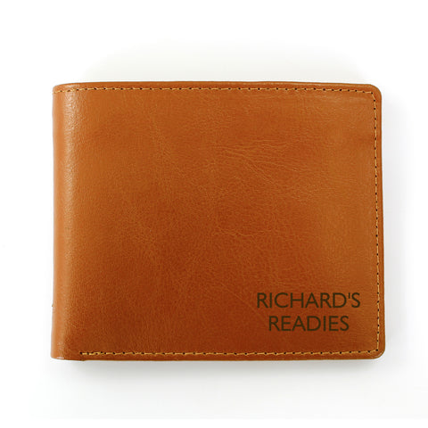 Personalised Brown Message Wallet Present