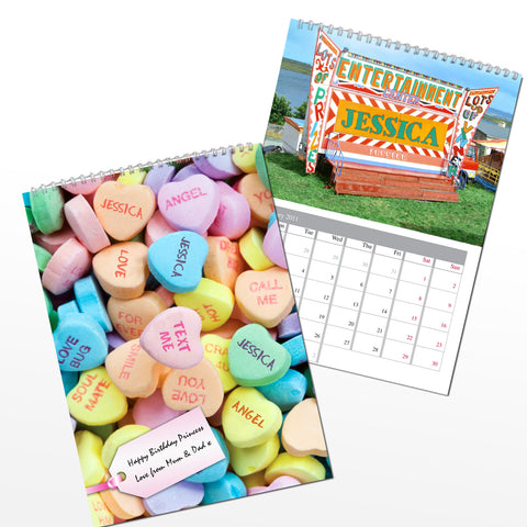 Personalised Girls Calendar Gift