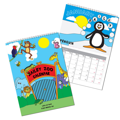 Personalised Zoo Calendar Gift