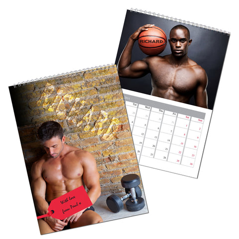 Personalised Hot Hunks Calendar Present
