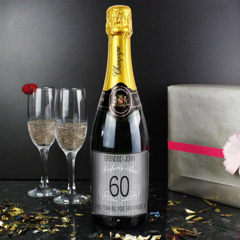Personalised Champagne Grey Age Label