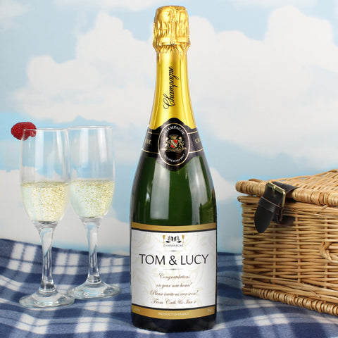 Personalised Damask Champagne Gift