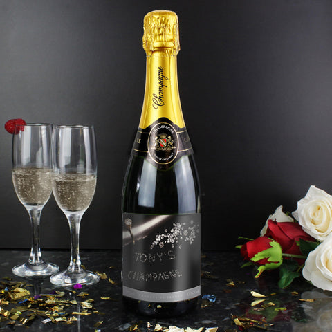 Personalised Diamond Champagne Bottle