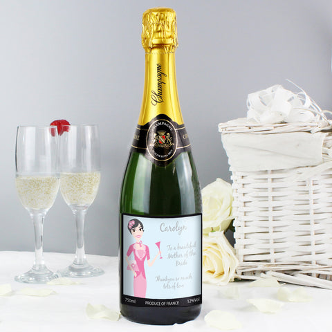 Personalised Fabulous Wedding Mother Champagne