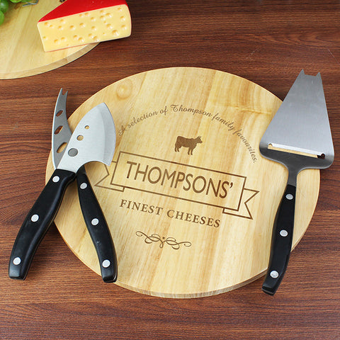 Personalised Cheese Board and Accessory Set