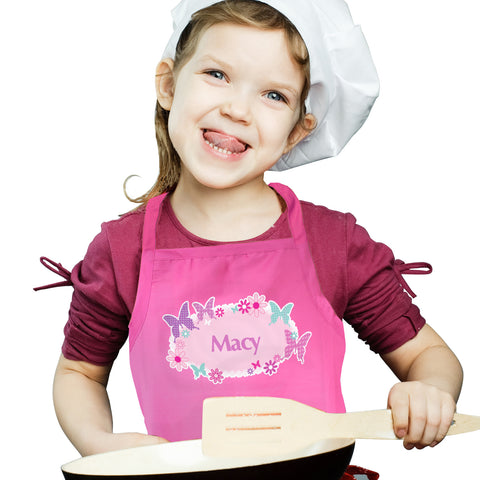 Personalised Butterfly Childs Apron Gift