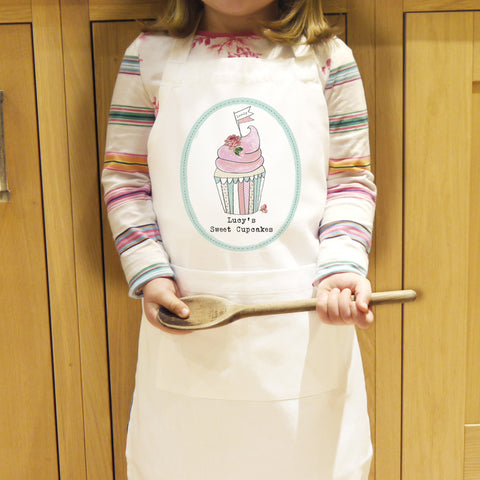 Personalised Childs Apron Vintage Cupcake Design