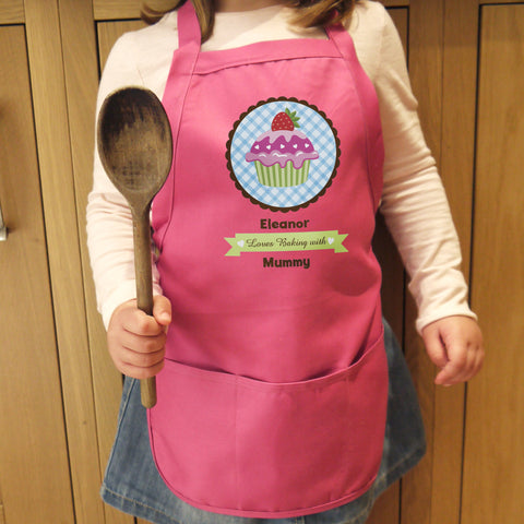 Personalised Strawberry Cupcake Child's Apron