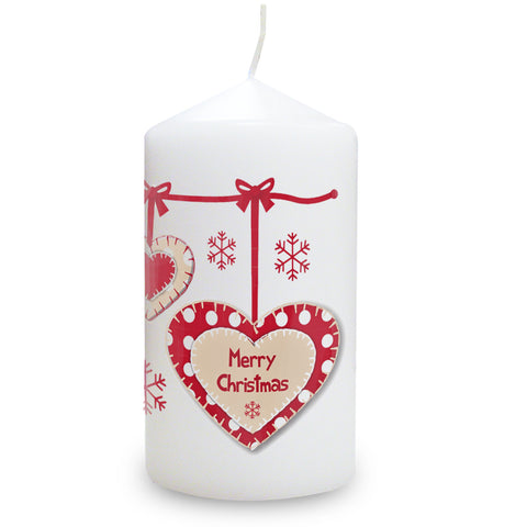Personalised Heart Christmas Candle Gift