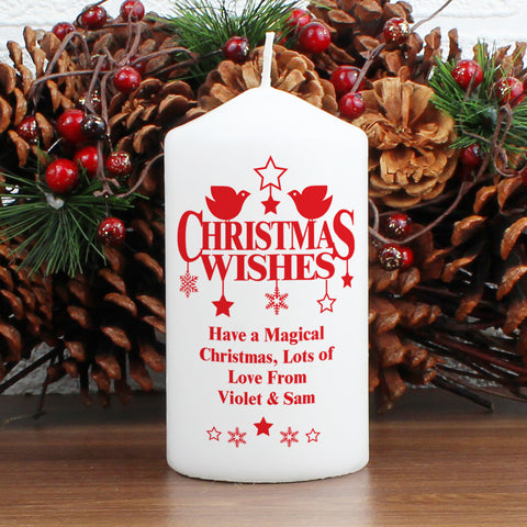 Personalised Christmas Wishes Candle Gift