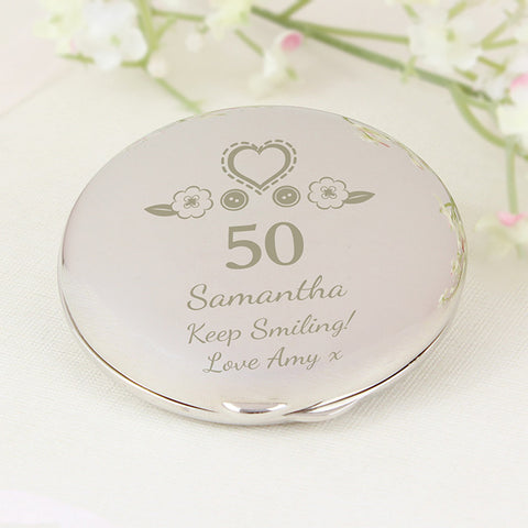 Personalised Birthday Compact Mirror Gift