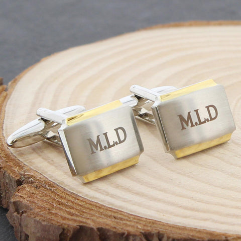 Personalised Gold Plated Cufflinks Gift