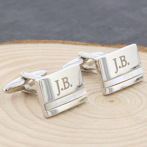Personalised Mother of Pearl Cufflinks Gift