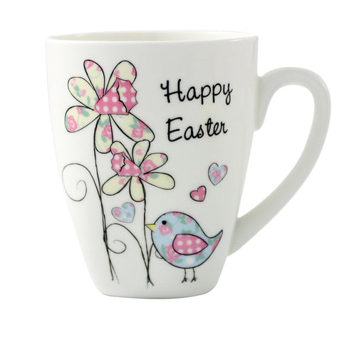 Personalised Easter Daffodil and Chick Latte Mug Gift