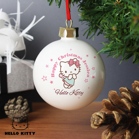 Personalised Hello Kitty Fairy Christmas Bauble