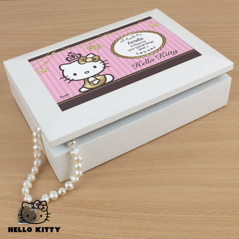 Personalised Hello Kitty Chic Jewellery Box