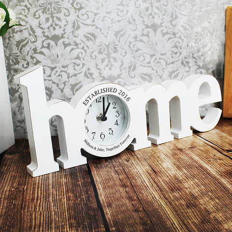 Personalised Home Clock Gift