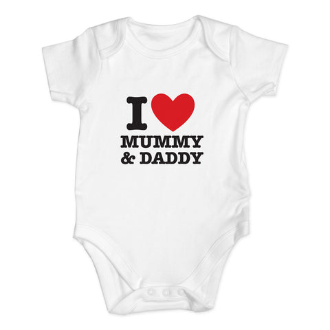 Personalised I HEART Baby Vest