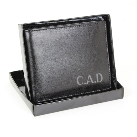 Personalised Leather Wallet with Initials Present