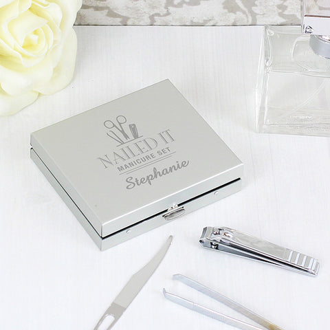 Personalised Nailed It Manicure Set Gift