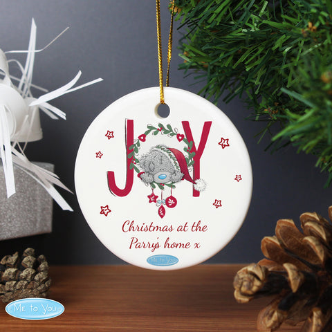 Personalised Me to You Joy Christmas Decoration