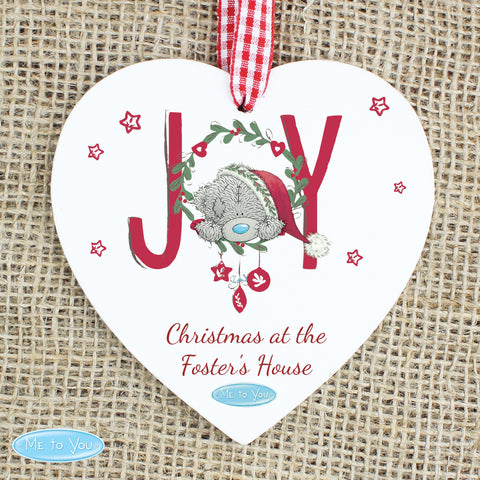 Personalised Me to You Joy Heart Christmas Decoration
