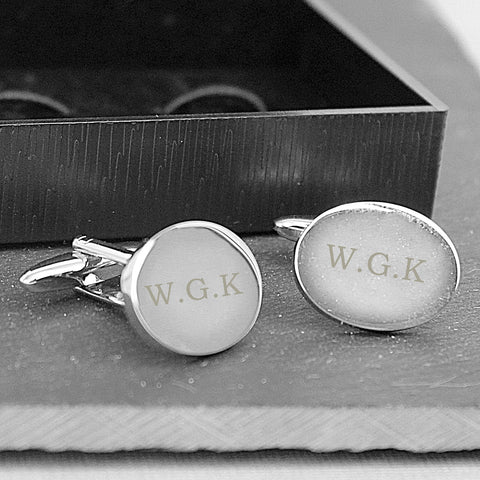 Personalised Oval Cufflinks with Initials
