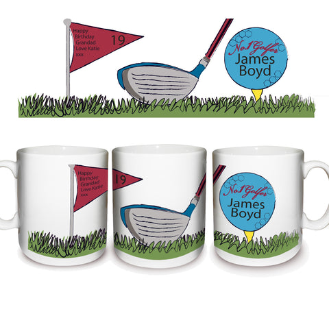 Personalised No1 Golfer Ceramic Mug Gift